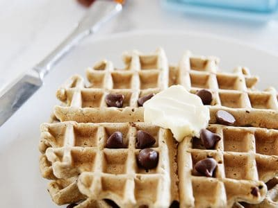 Waffles de Avena y Chips de Chocolate